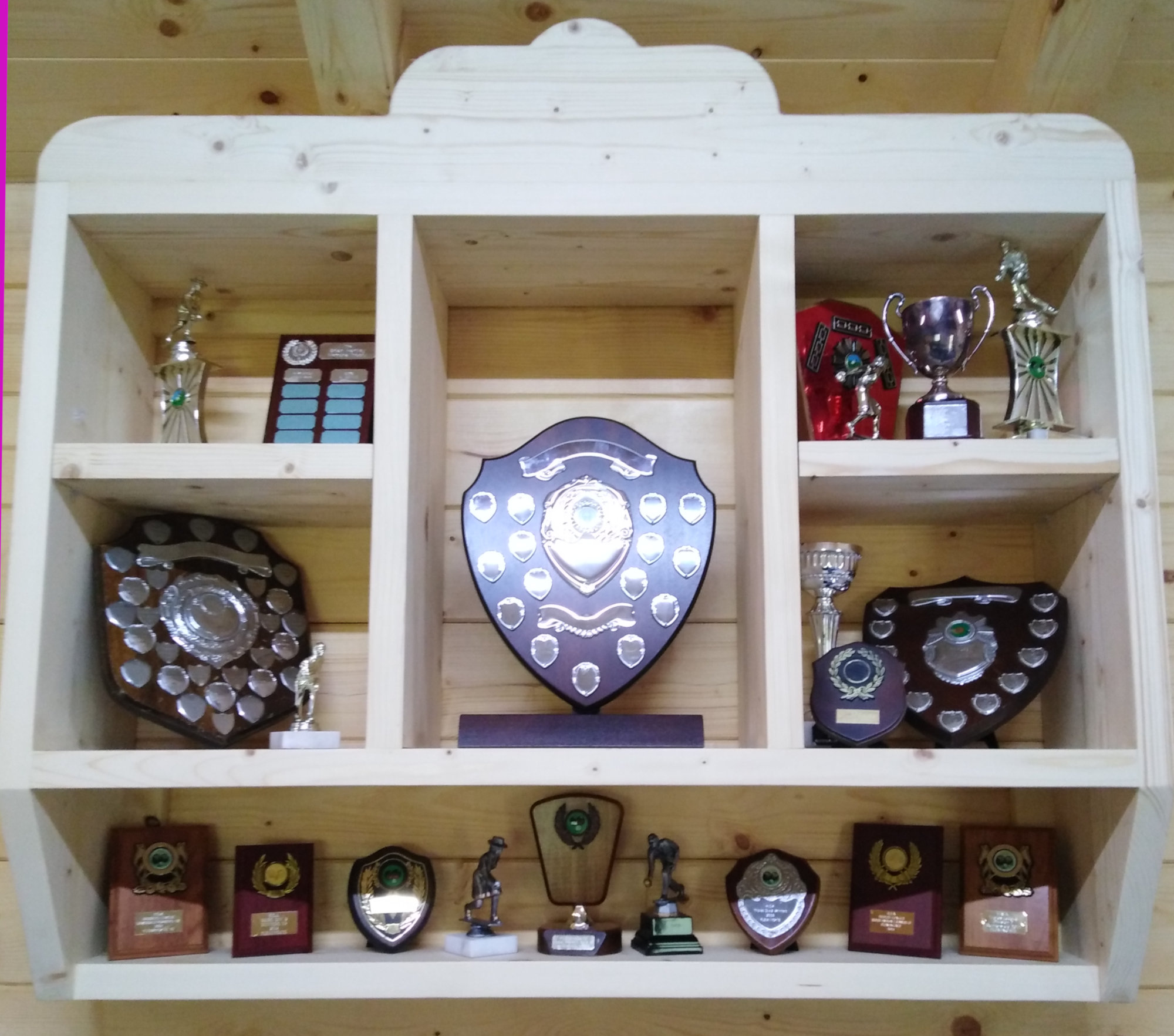 Bowling Trophies and Cups won by Flemingate Bowling Club in East Yorkshire.